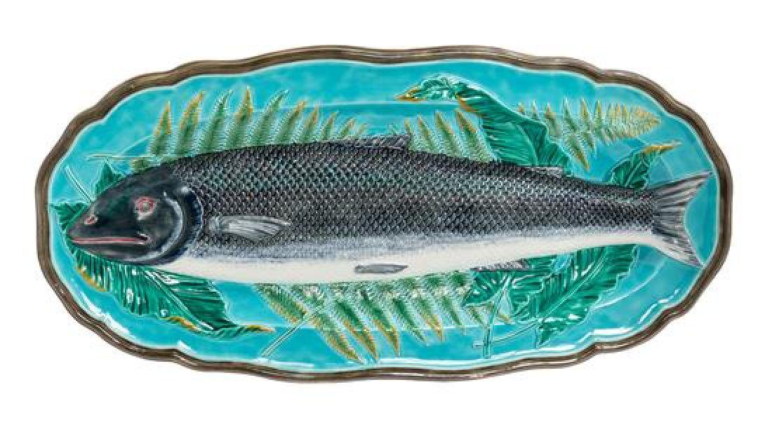 A Wedgwood Majolica Platter Length 26 inches.