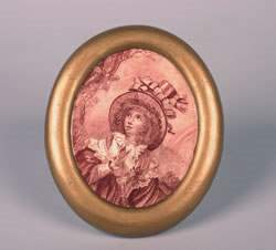 A Minton Porcelain Plaque, Height 8 1/2 x 7 inches.