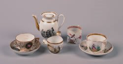 11: A Group of Old Paris Porcelain, Height of teapot 5