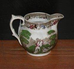 An English Transfer Printed Ceramic Pitcher, Height