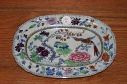 18: A Davenport Ironstone Dish, Height 7 1/2 x 10 inche