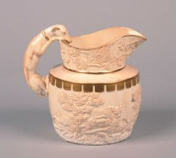 21: An English Creamware Pitcher, Height 7 inches.