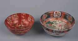 399: A Japanese Imari Porcelain Bowl, Diameter of large