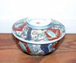 A Japanese Imari Porcelain Covered Bowl, Diameter