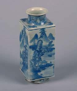 A Chinese Blue and White Porcelain Vase, Height 9