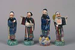 A Group of Four Chinese Famille Rose Porcelain Fig