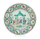 A Chinese Export Famille Rose Pronk Arbor Porcelain