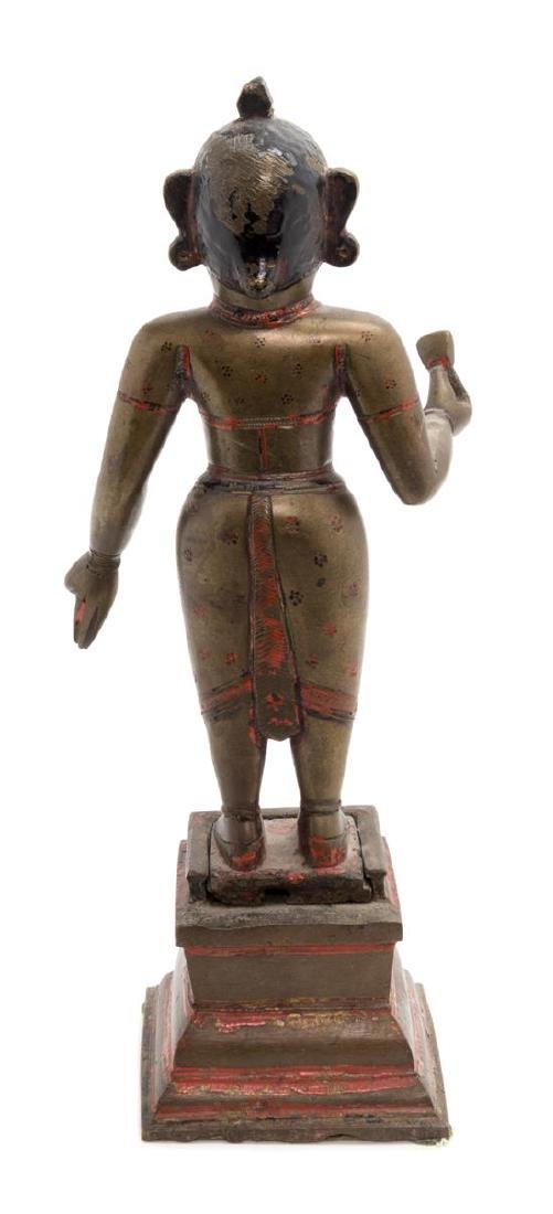 * An Indian Bronze Figure Height overall 14 3/4 inches. - 2