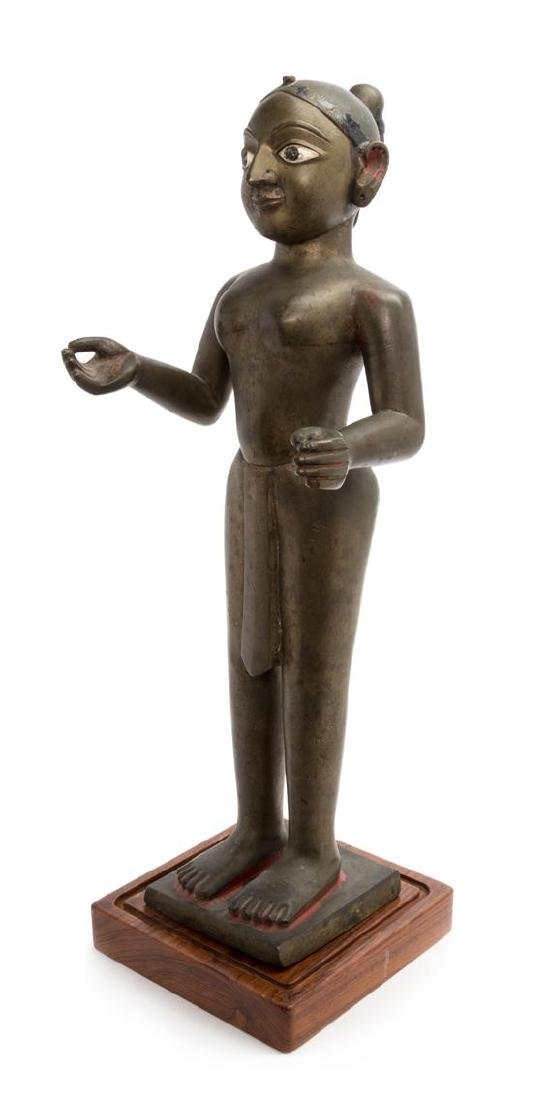 * An Indian Bronze Figure of Jina Height 23 inches.