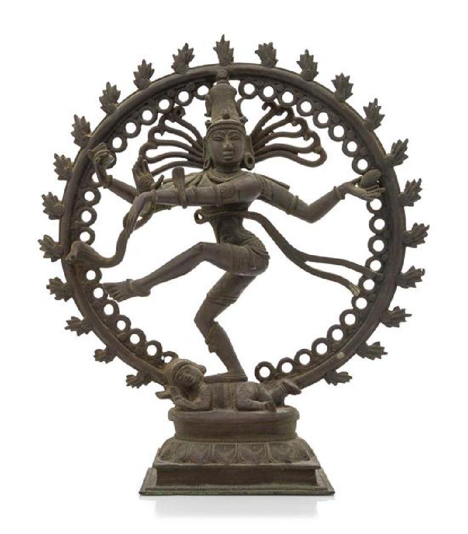 A South Indian Bronze Figure of Nataraja Height 14 3/4