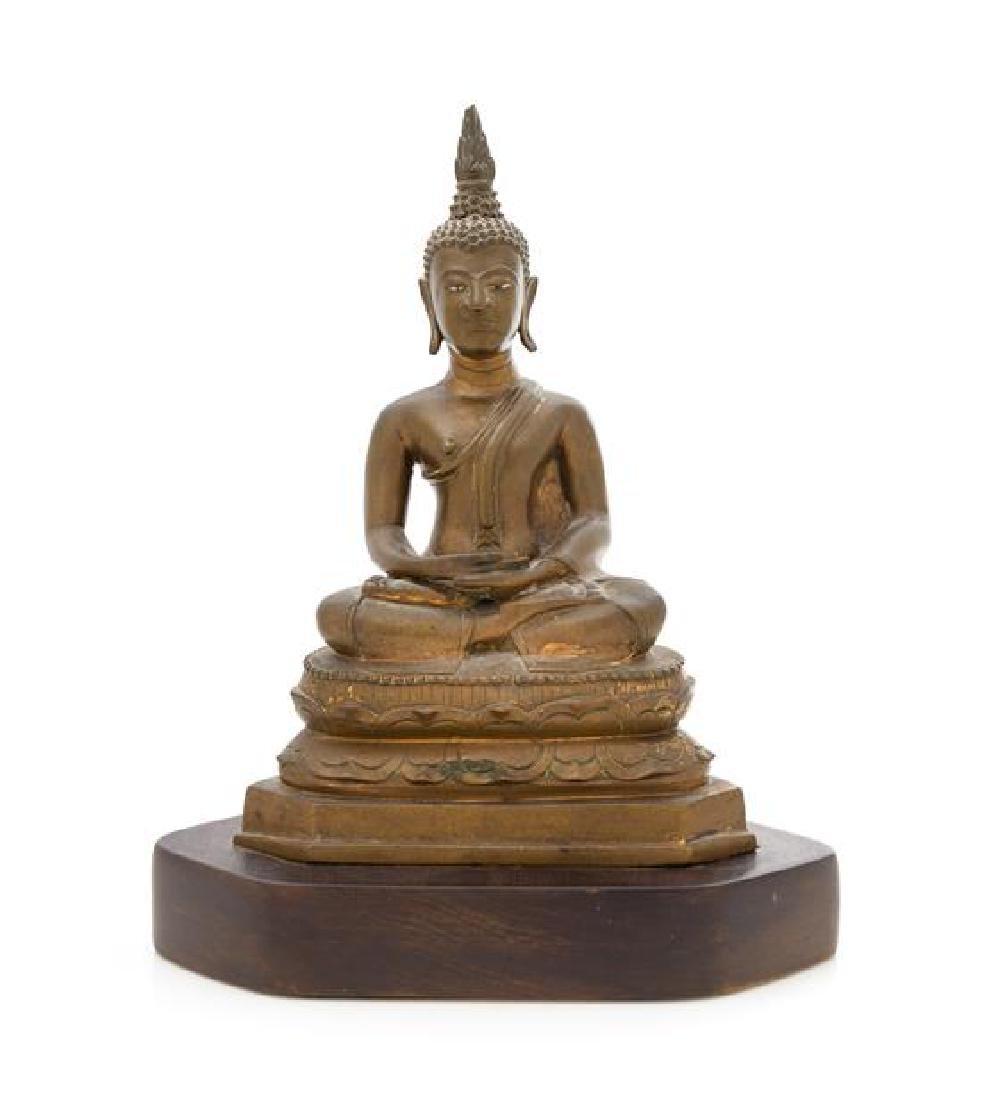 * A Thai Bronze Figure of Buddha Shakyamuni Height 10