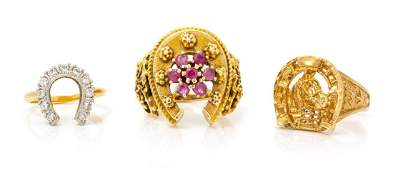 A Collection of 14 Karat Yellow Gold and Multigem