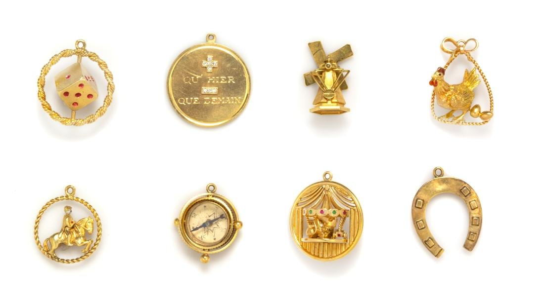 A Collection of Yellow Gold, Gemstone and Enamel