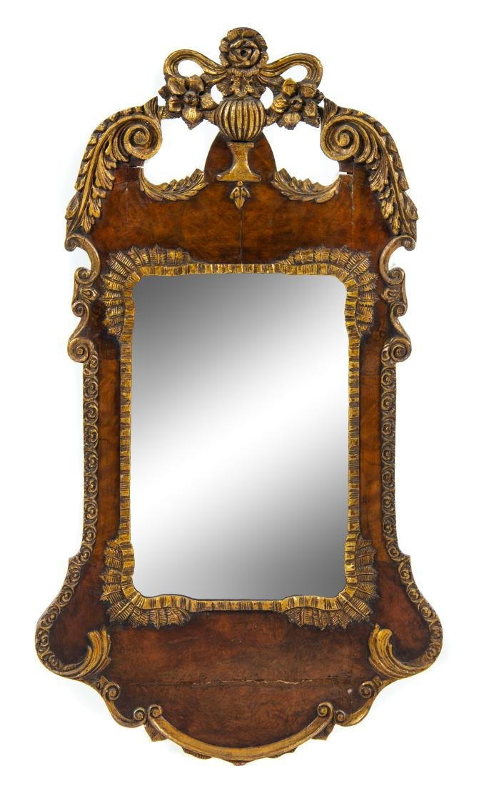 A George III Style Parcel Gilt Mirror Height 39 1/2 x