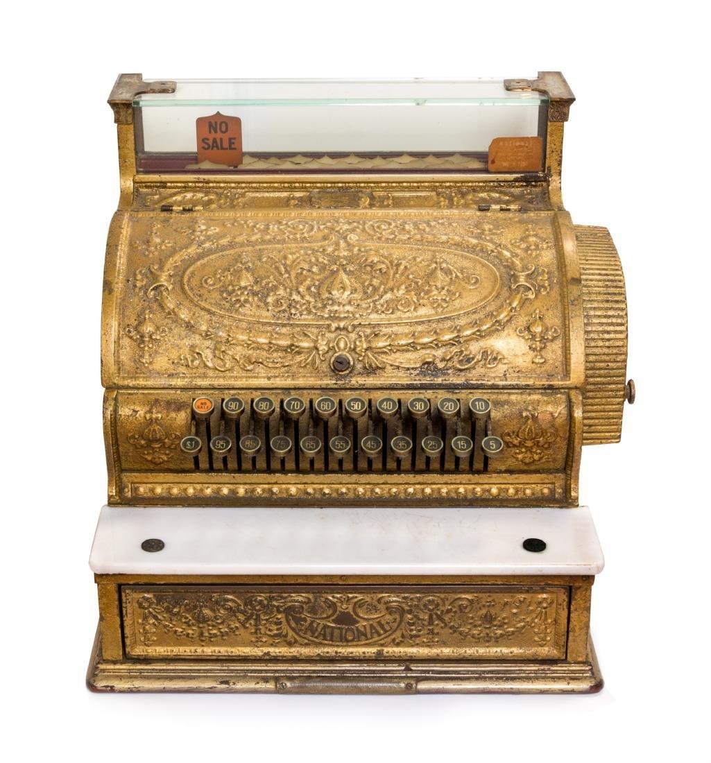 An American Brass Cash Register Width 19 inches.