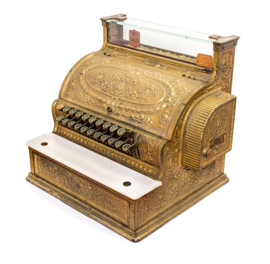 An American Brass Cash Register Width 19 inches. - 2