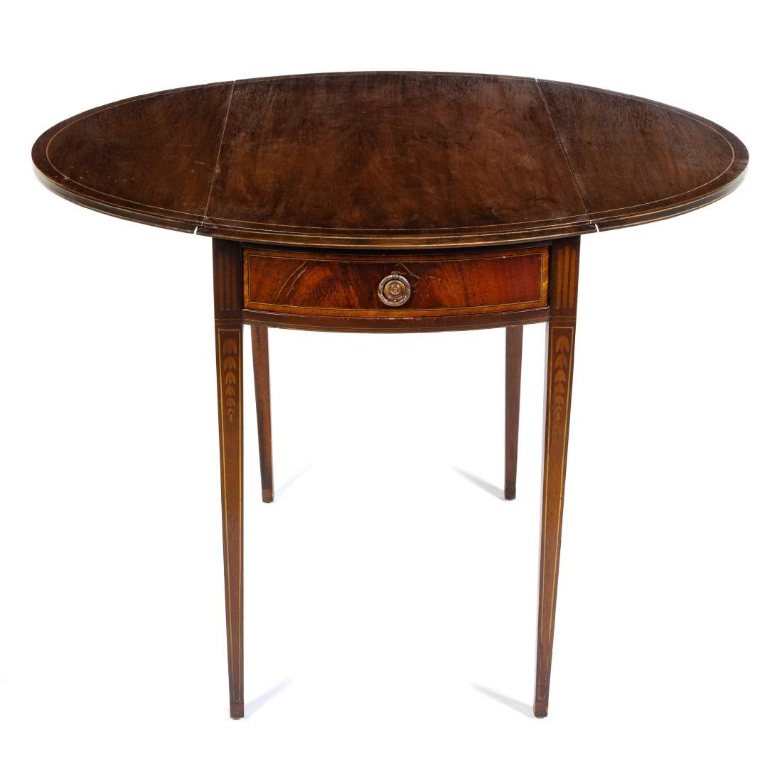 A George III Style Mahogany Pembroke Table Height 28