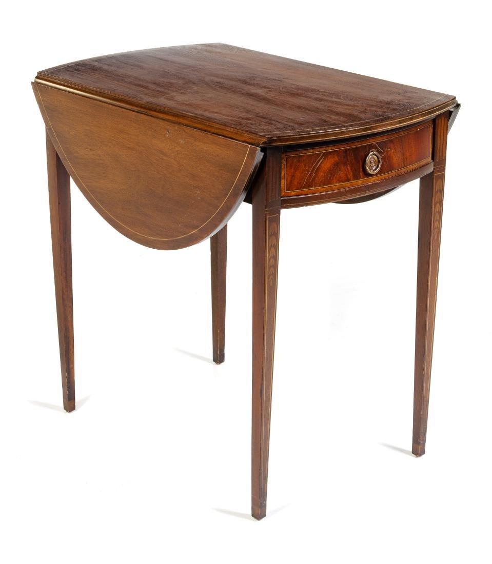 A George III Style Mahogany Pembroke Table Height 28 - 2
