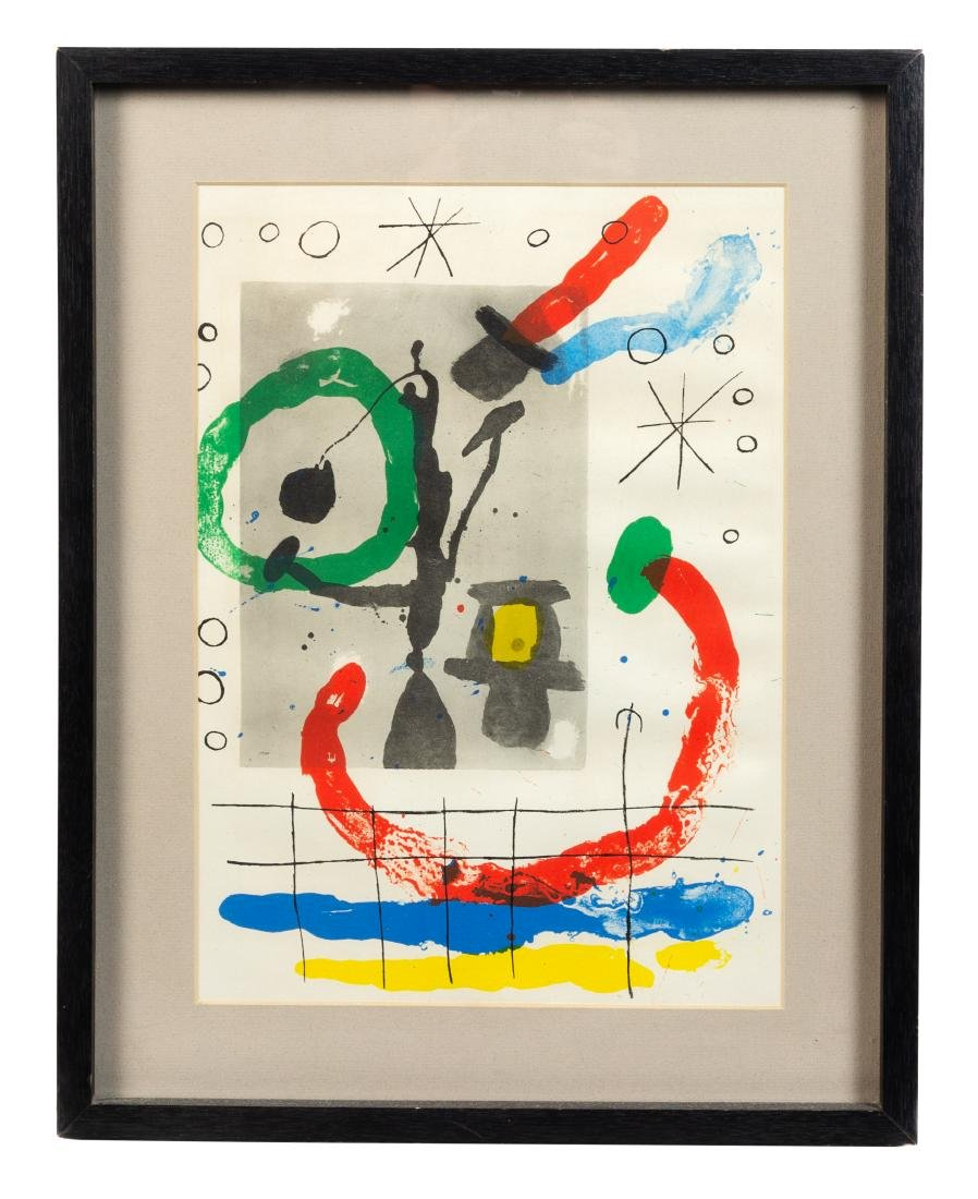 * Joan Miro, (Spanish, 1893-1983), from Derriere le