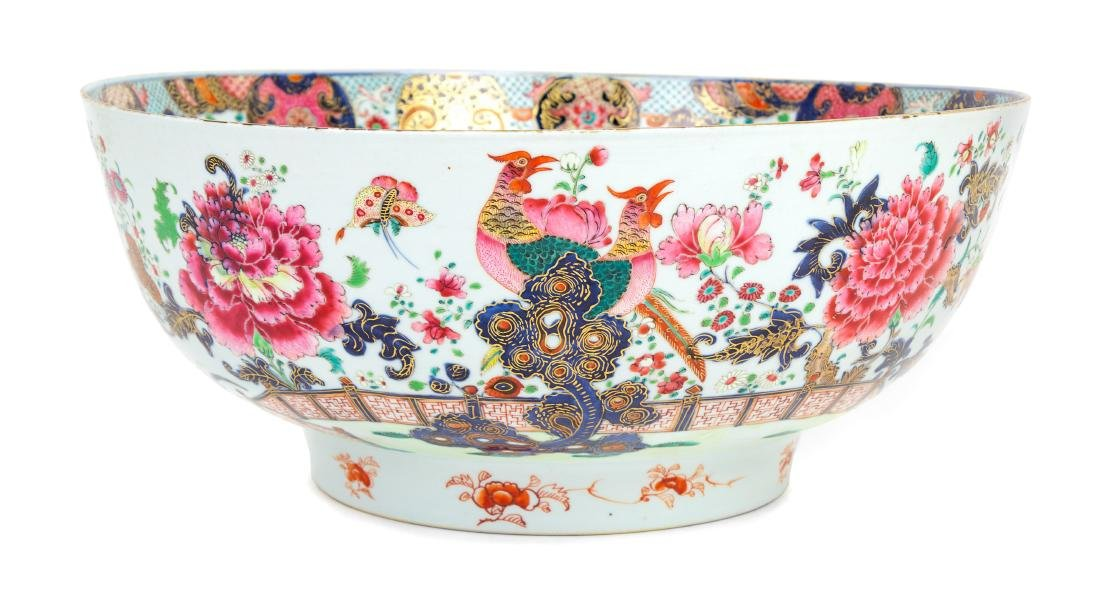 * A Chinese Export Punch Bowl Height 6 5/8 x diameter