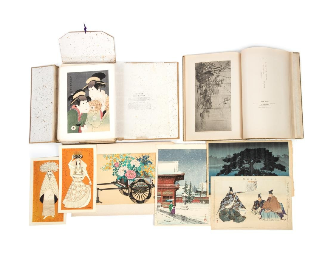 * Thirty Japanese Woodblock Prints and Two Books Height