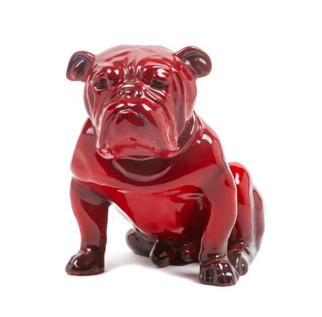 * A Royal Doulton Flambe Bulldog Height 5 1/2 inches.