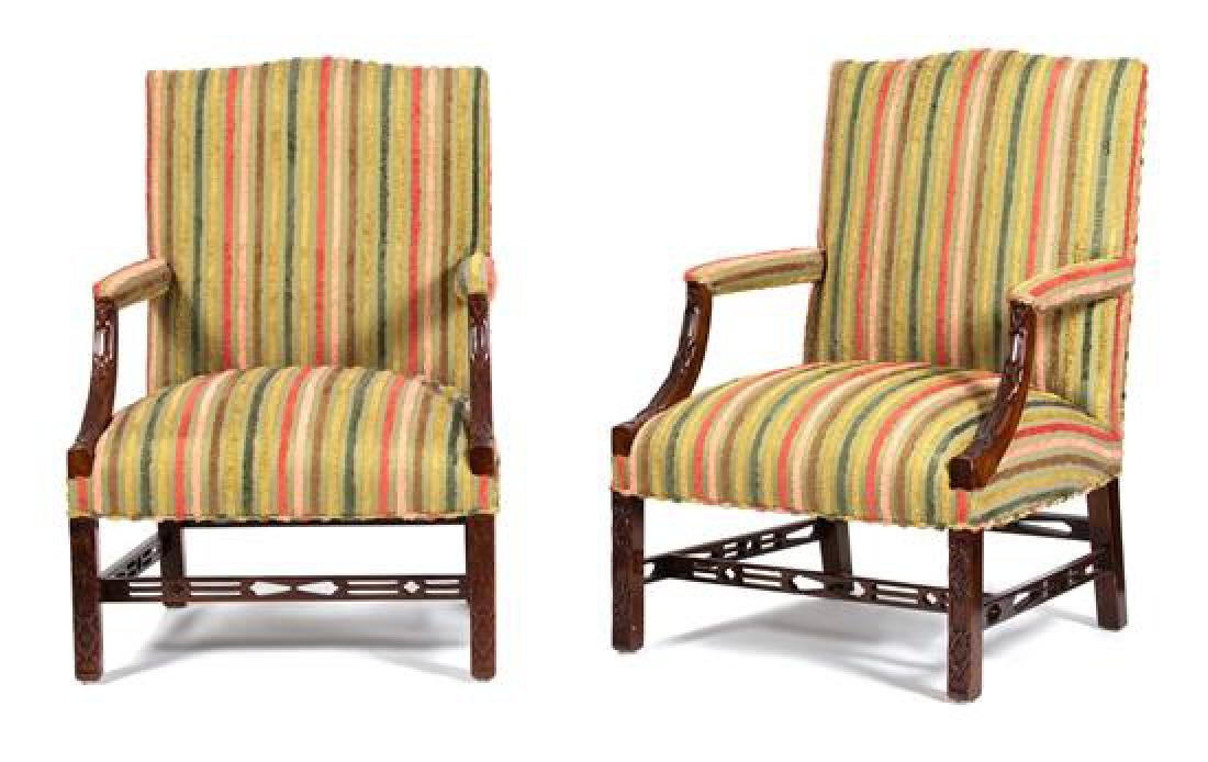 A Pair of George III Chinese Chippendale Style