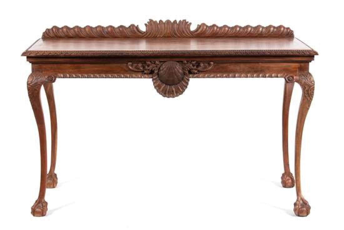An Irish George II Style Walnut Console Table