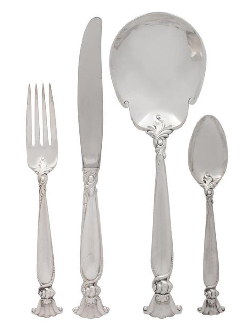 A Set of American Silver Flatware