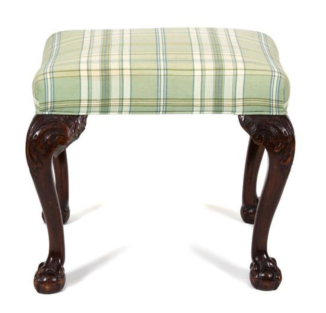 A George II Style Carved Mahogany Foot Stool