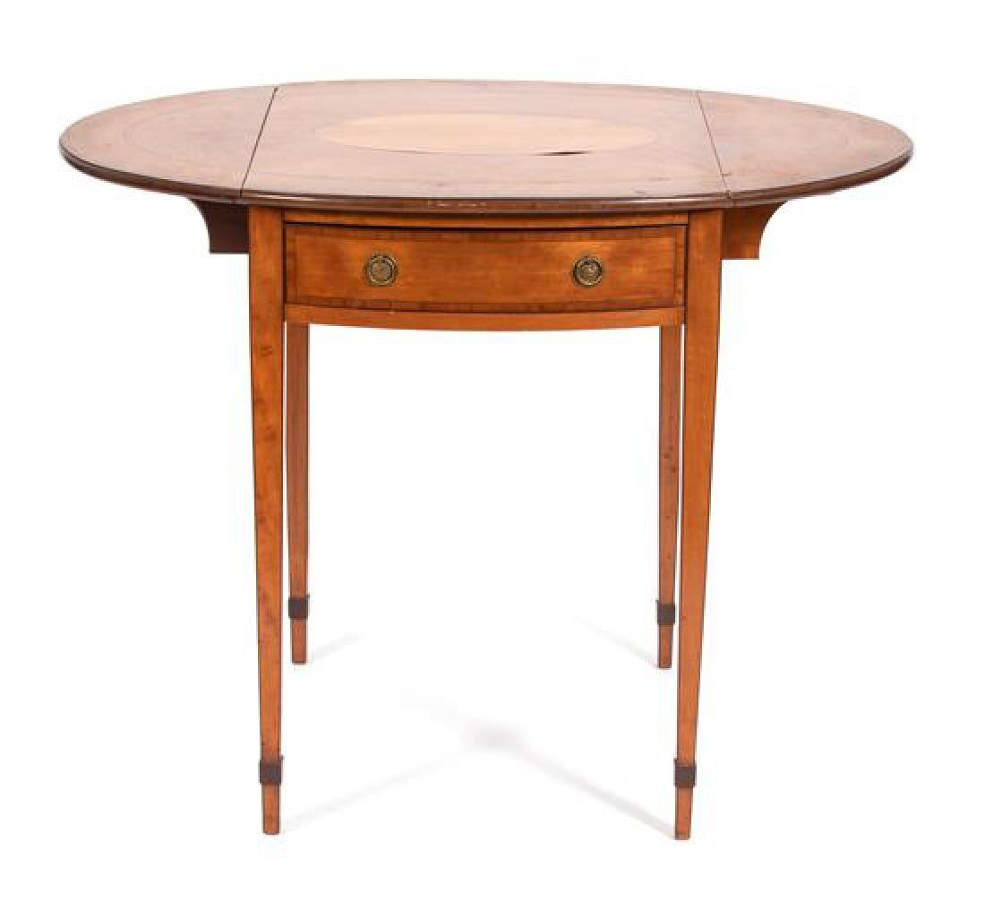 A George III Style Inlaid Fruitwood Pembroke Table