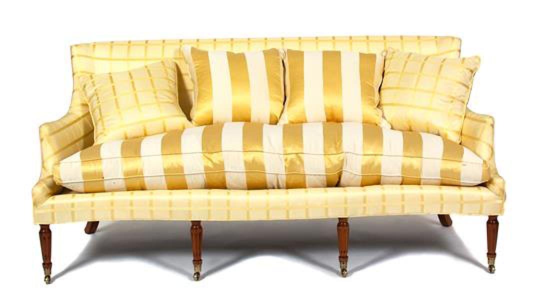 A Regency Style Silk Upholstered Sofa