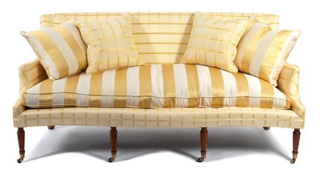A Regency Style Silk Upholstered Sofa - 2