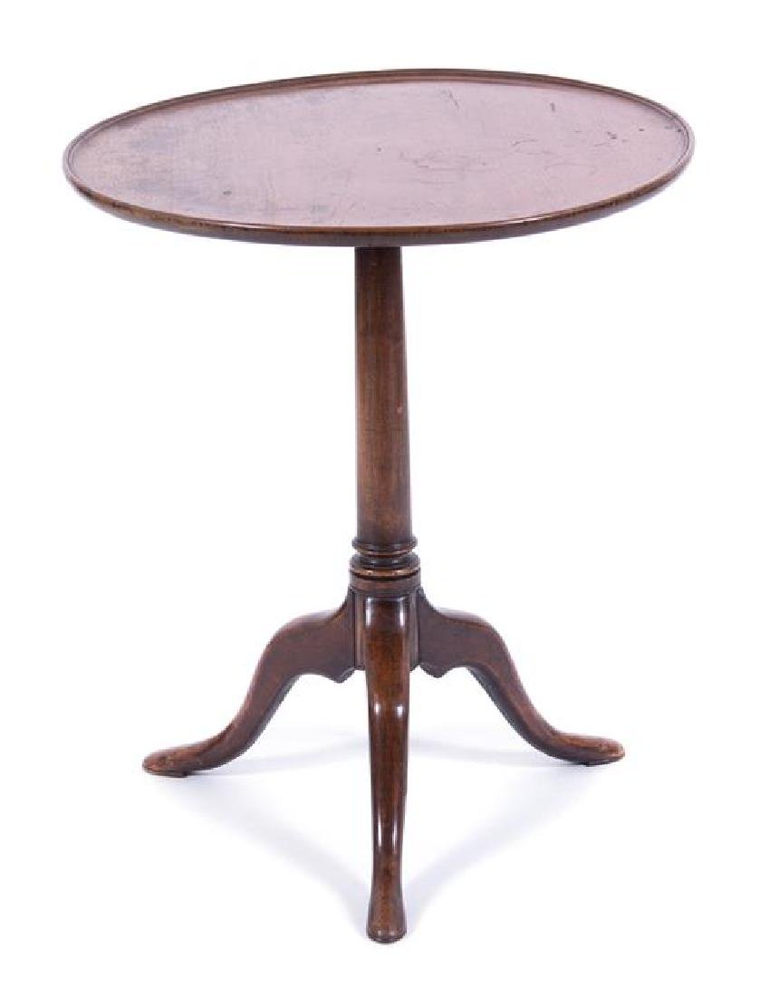 A Chippendale Style Mahogany Pie Crust Tripod Table