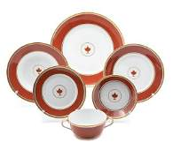 A Richard Ginori Porcelain Partial Dinner Service