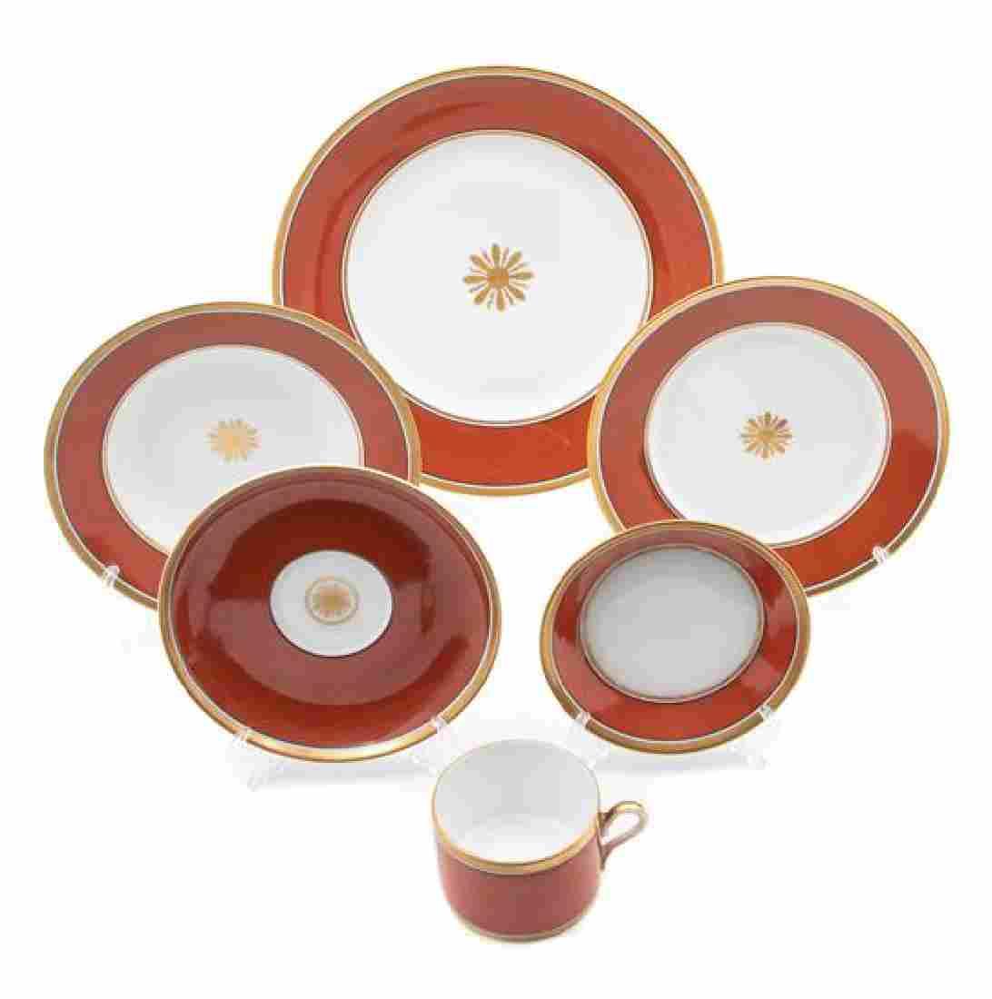 A Richard Ginori Porcelain Partial Dinner Service