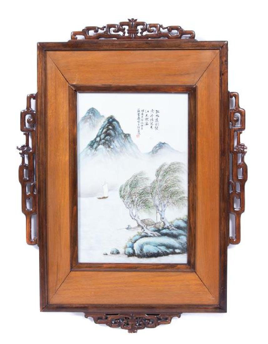 A Chinese Enameled Porcelain Plaque