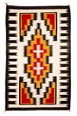 Group of Three Navajo Rugs Largest 58 x 38 inches