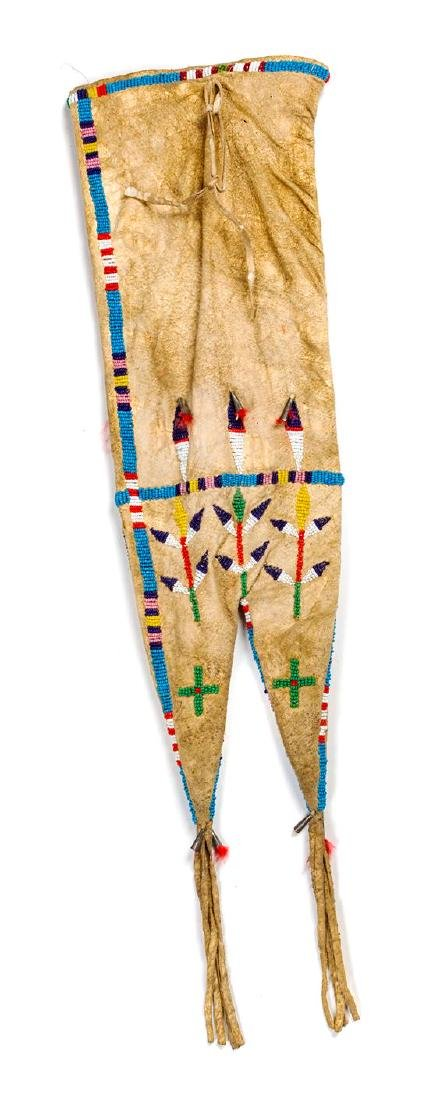 Plains Beaded Pipe Bag 19 x 6 1/2 inches