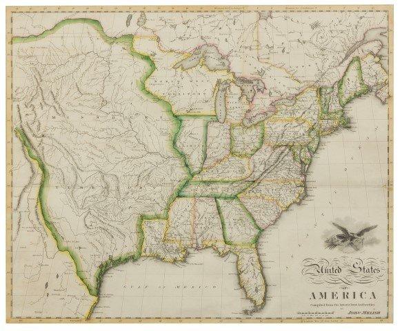 MELISH, John (1771-1822). United States of America. Phi
