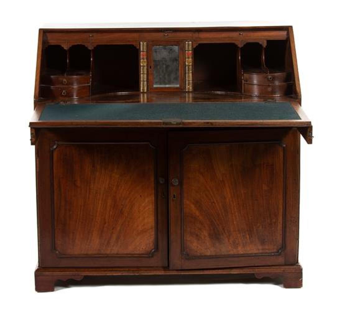 A George III Mahogany Slant-Front Desk - 2
