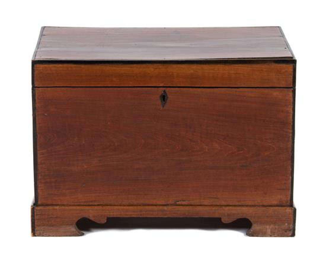 A George III Style Mahogany Miniature Blanket Chest