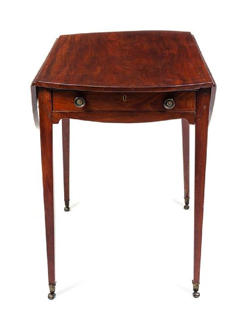 A George III Mahogany Pembroke Table Height 28 x width - 2