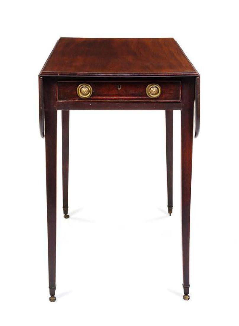 A George III Mahogany Pembroke Table Height 28 x width - 2