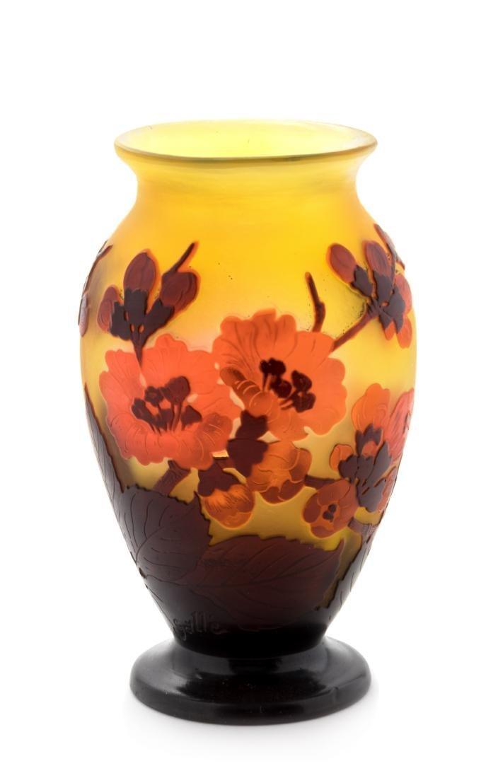 Emile Galle, (French, 1846-1904), Cameo Vase