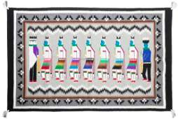 Two Contemporary Navajo Rugs Largest 36 x 57 inches
