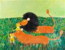 Henri Hecht Maïk, (French, 1922-1993), Lion et lionne