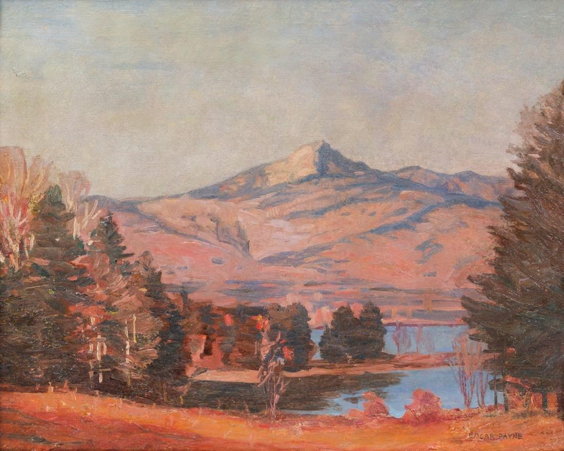 Edgar Payne, (American, 1883-1947), Autumn Sunset