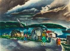 William Samuel Schwartz, (American, 1896-1977), Village