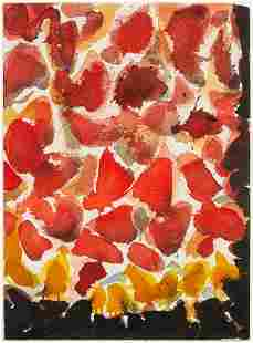 * Sam Francis, (American, 1923-1994), Red, Yellow, and